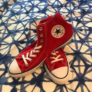 Converse • Chuck Taylor Red High Top NWOT Shoes